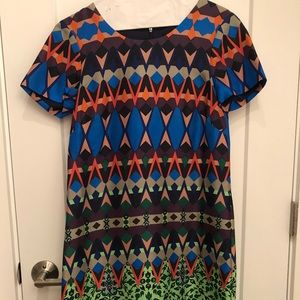 J.Crew Silk patterned dress